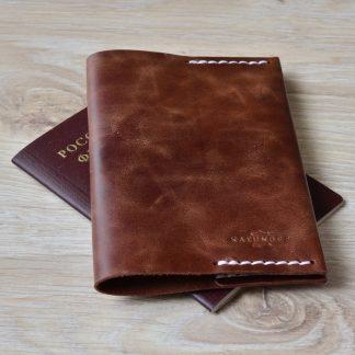обложка для паспорта из натуральная кожа