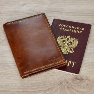 обложка для паспорта натуральная кожа ручная работа
