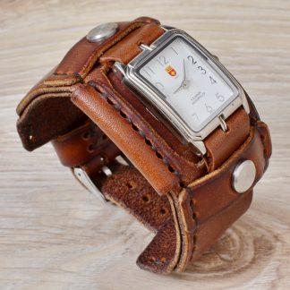 широкий кожаный ремешок для часов 4U Swiss