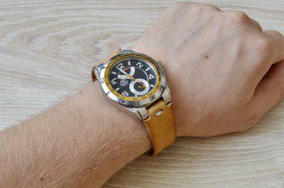 кожаный ремешок для часов Orient
