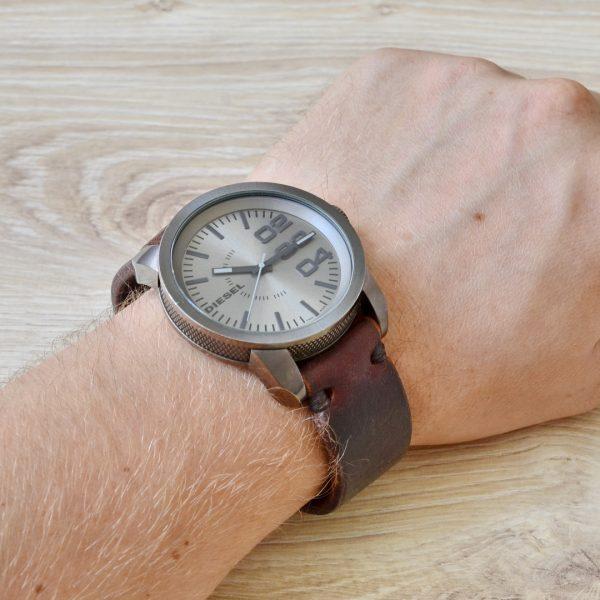 кожаный ремешок (браслет) для часов Дизель