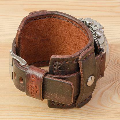 широкий ремешок для часов Diesel dz-4281, натуральная кожа, ручная работа, коричневый, нержавеющие болты, Katunoff