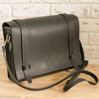 черная сумка через плечо ручная работа, натуральная кожа