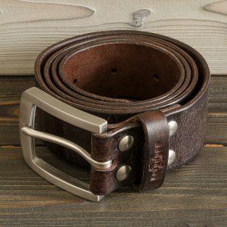 коричневый ремень из натуральной кожи, ручная работа, нержавеющая сталь болты и пряжка, мужской