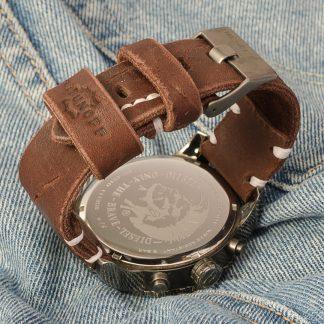 ремешок для часов Diesel dz-4210, натуральная кожа, ручная работа, коричневый, нержавеющие болты, Katunoff