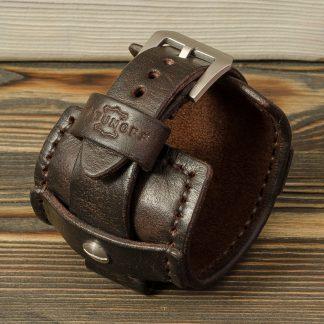 ремешок для часов из натуральной кожи, ручная работа, полты из нержавеющей стали, мужской