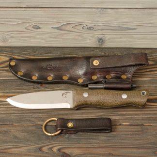 кожаные ножны с латунными заклепками, ручная работа, натуральная кожа, Katunoff